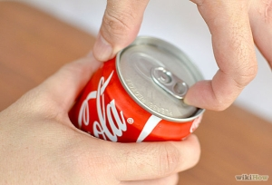 opening coke can